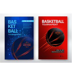 Basketball tournament poster vector