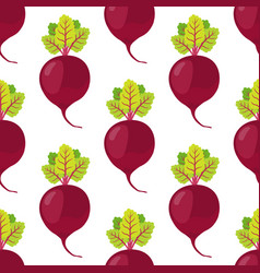beetroot seamless pattern vegetarian food vector image