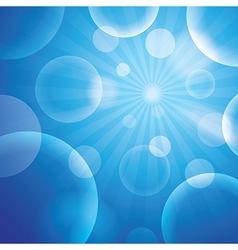 Bubble blue background vector