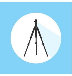 Camera Tripod Digital Technology Equipment Pro vector image