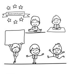 Cartoon charactor happy businessman vector