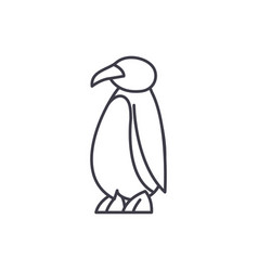cartoon penguin line icon concept cartoon penguin vector image