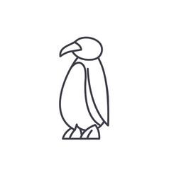 cartoon penguin line icon concept cartoon penguin vector image