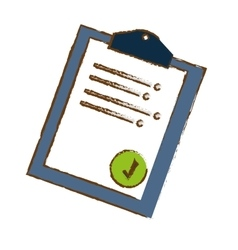 Clipboard with check mark icon image sketch style vector