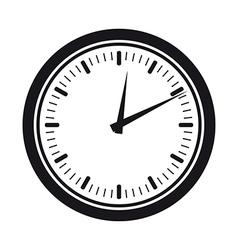 clock silhouette vector image