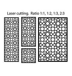 cnc template set laser pattern set geometric vector image