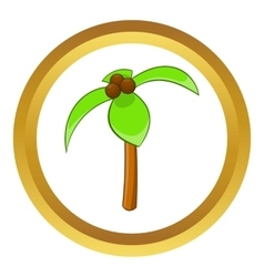 Coconut palm icon vector