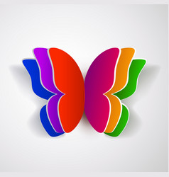 Colorful paper butterfly vector