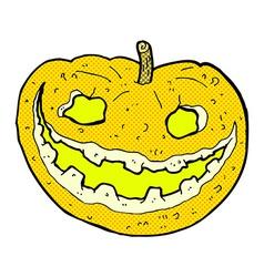 Comic cartoon spooky pumpkin vector