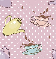 Cups and splashes pattern vector
