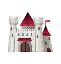 cute fairy tale castle with vector image