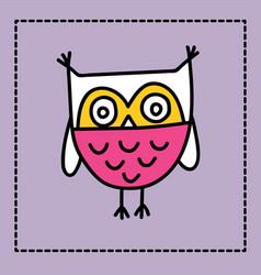 Cute owl doodle vector