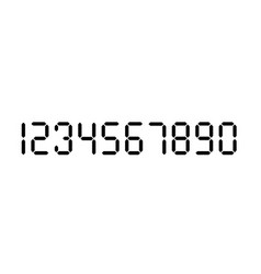Digital number set calculator digital numbers vector
