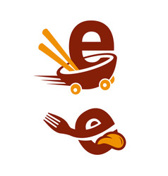 e hungry vector image