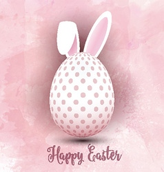 Easter egg on watercolor background 1103 vector
