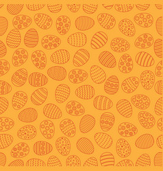 easter seamless background with eggs gift card vector image