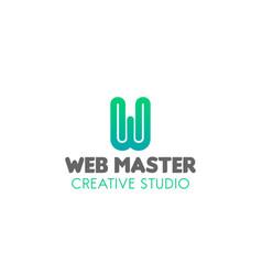 emblem for web studio vector image