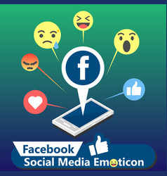 Facebook social media emoticon background i vector
