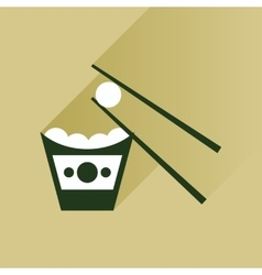 Flat with shadow Icon Chinese cheese balls vector
