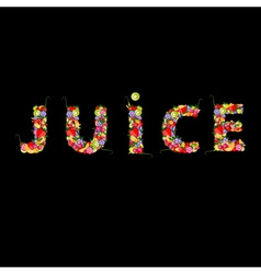fruit juice for your design vector image