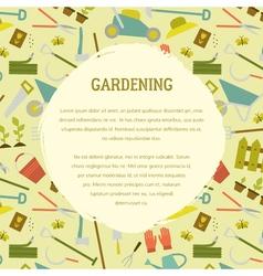 Gardening template vector