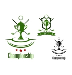 Golf championship emblem or banner vector image