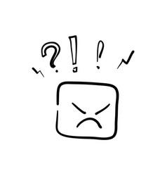 Hand drawn negative thinking bad experience vector
