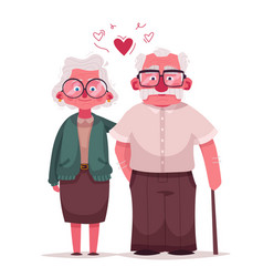 happy grandparents cartoon vector image