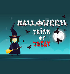 happy halloween party banner trick or treat vector image