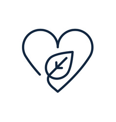Heart love leaf nature ecology environment icon vector