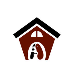 house dog logo icon vector image
