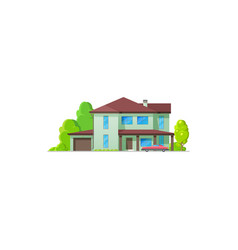 house home icon bungalow cottage and real estate vector image