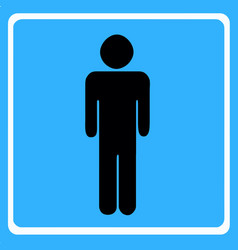 Man figure - wc toilet icon vector