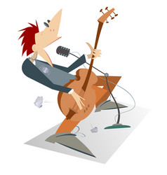 man is playing guitar isolated vector image