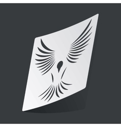 Monochrome bird sticker vector