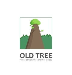 Old tree logo template vector