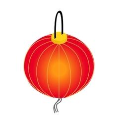 Paper lantern icon isometric 3d style vector image