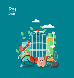 pet shop flat style design vector image