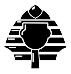 Pharaoh icon simple black style vector