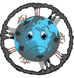 Pollution of the planet vector image