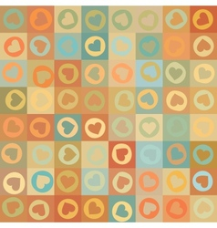 Retro seamless pattern with colorful hearts EPS 8 vector image