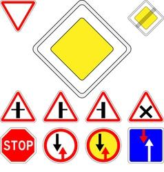 Road signs priority vector