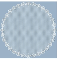 Round lacy frame vector