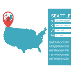 seattle map infographic vector image