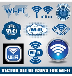 set different icons for technology wifi vector image