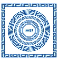 Set of brushes to create Greek Meander patterns vector image