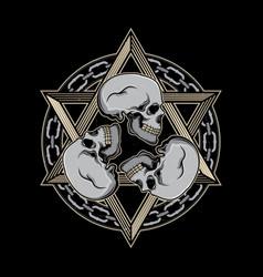 skull head tattoo designs vector image