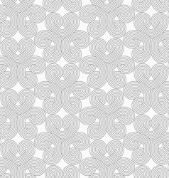 Slim gray hatched hearts in turn vector image