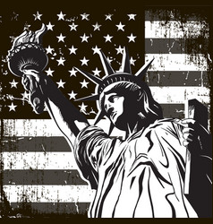 statue of liberty symbol of new york and the us vector image