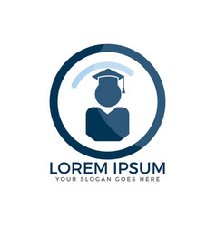 student icon logo vector image